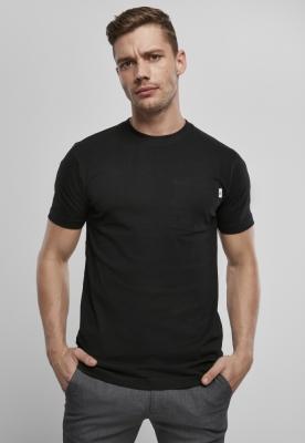 Tricou cu buzunar Organic bumbac Basic negru Urban Classics
