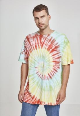 Tricou Spiral Tie Dye Pocket Urban Classics