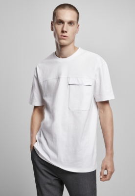 Tricou cu buzunar supradimensionat Big Flap alb Urban Classics