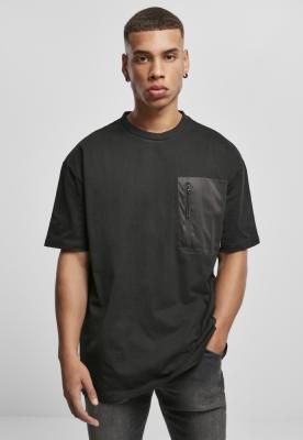 Tricou cu buzunar supradimensionat Big negru Urban Classics
