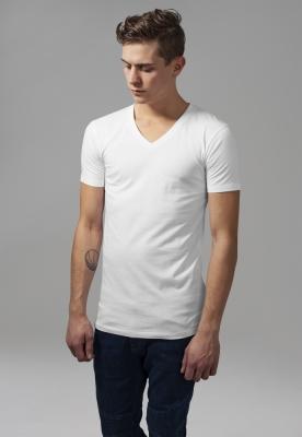 Tricou cu decolteu in V Basic alb Urban Classics