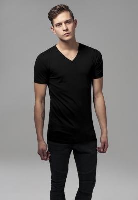 Tricou cu decolteu in V Basic negru Urban Classics