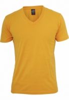 Tricou cu decolteu in V Basic portocaliu Urban Classics