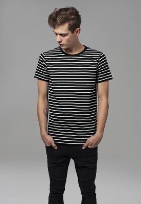 Tricou cu dungi negru-alb Urban Classics
