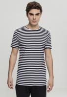 Tricou cu dungi negru-alb