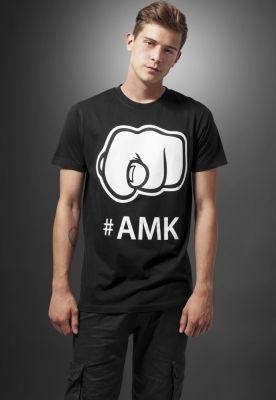 Tricou cu imprimeu amuzant AMK negru Mister Tee