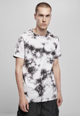 Tricou cu imprimeu hippie negru alb-negru Urban Classics
