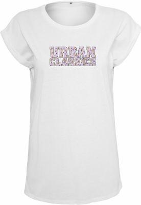 Tricou cu logo Urban Classics pentru Femei alb-ice