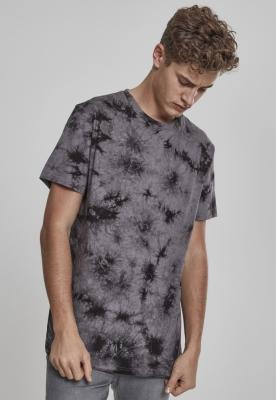 Tricou cu model special Batik gri-negru