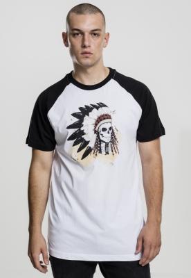 Tricou Dead Indian alb-negru Mister Tee