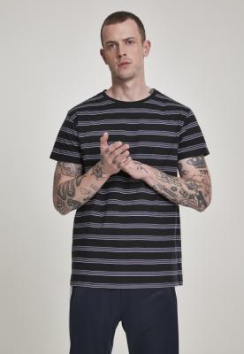 Tricou dungi Multicolor negru-gri Urban Classics