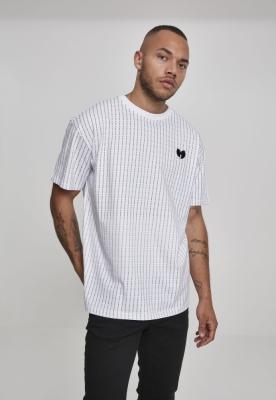Tricou dungi Wu-Wear Pin alb