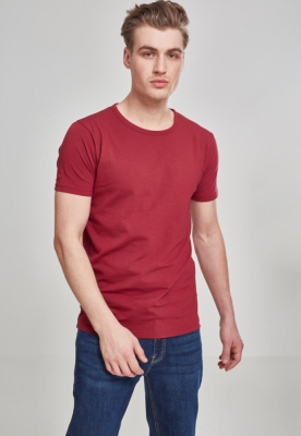 Tricou Fitted Stretch rosu burgundy Urban Classics