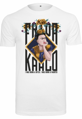 Tricou Frida Kahlo Born pentru Femei alb Merchcode