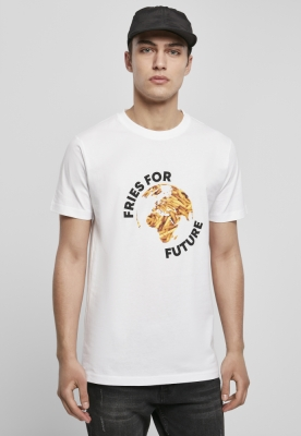 Tricou Fries For Future alb Mister Tee