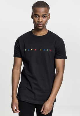 Tricou Fuck This negru Mister Tee