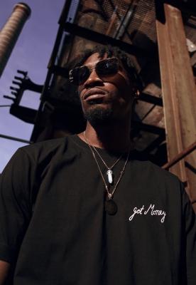 Tricou Get Money negru Mister Tee
