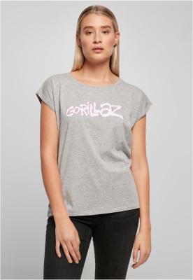 Tricou Gorillaz Logo pentru Femei gri deschis Merchcode
