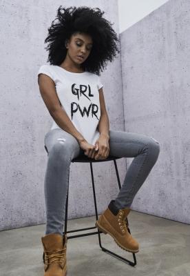 Tricou GRL PWR pentru Femei alb
