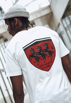 Tricou Horses In The Back alb Mister Tee