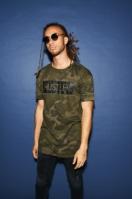 Tricou Hustler Logo Camo oliv-camuflaj Merchcode