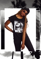 Tricou Hustler Smoke pentru Femei negru Merchcode