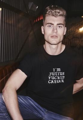 Tricou Julius negru Mister Tee