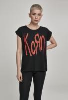 Tricou Korn Logo pentru Femei negru Merchcode