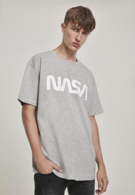 Tricou larg NASA Heavy deschis-gri Mister Tee