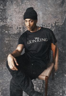 Tricou Lion King Logo negru Merchcode