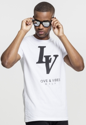 Tricou Love Vibes Only alb Mister Tee