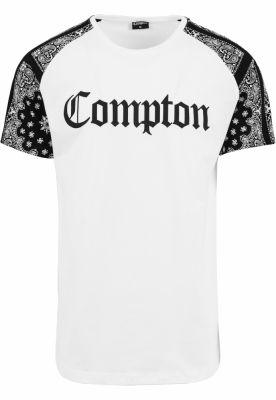 Tricou lung Compton NWA barbati alb-negru Mister Tee