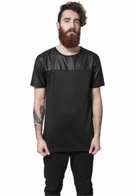 Tricou lung negru-negru Urban Classics