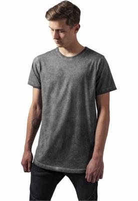 Tricou lung simplu Cold Dye gri inchis Urban Classics