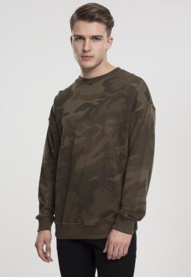 Tricou maneca lunga camuflaj oliv-camuflaj Urban Classics