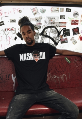 Tricou Mask On Mask Off negru Mister Tee