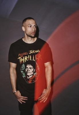 Tricou Michael Jackson Thriller Portrait negru Merchcode