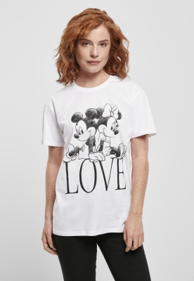 Tricou Minnie Loves Mickey pentru Femei alb Merchcode