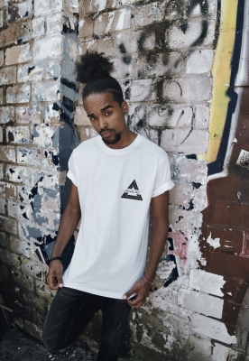 Tricou Mister Tee Triangle alb