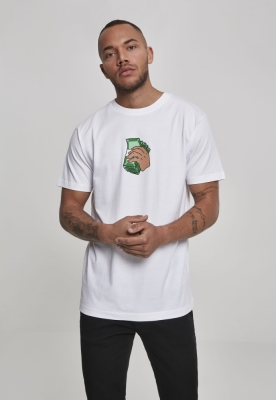 Tricou Money Talks alb Mister Tee
