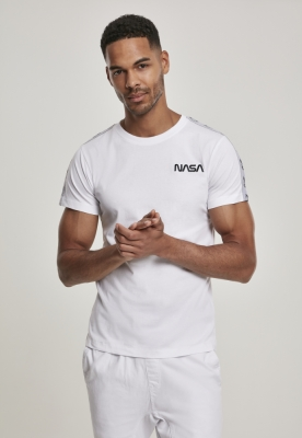Tricou NASA Rocket Tape alb Mister Tee