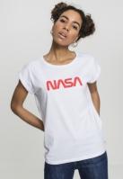 NASA Worm Tee pentru Femei alb Mister Tee