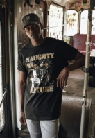 Tricou Naughty by Nature 90s negru Mister Tee
