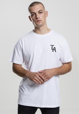 Tricou negru simplu LA alb Mister Tee