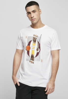 Tricou negru simplu LA King James alb Mister Tee