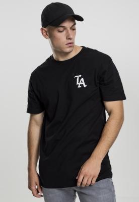Tricou negru simplu LA negru Mister Tee