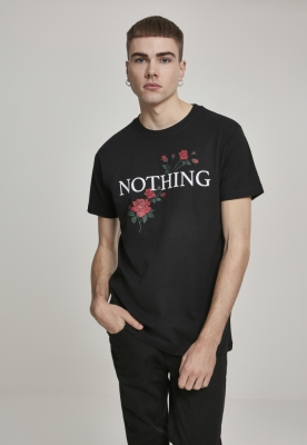 Tricou Nothing Rose negru Mister Tee