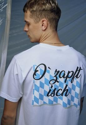 Tricou O Zapft Isch alb Mister Tee
