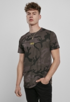 Tricou OFF EMB inchis-camuflaj Mister Tee
