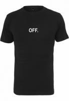 Tricou OFF EMB negru-alb Mister Tee